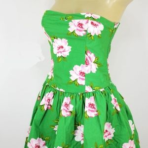Abercrombie & Fitch Summer Strapless FLORAL Dress